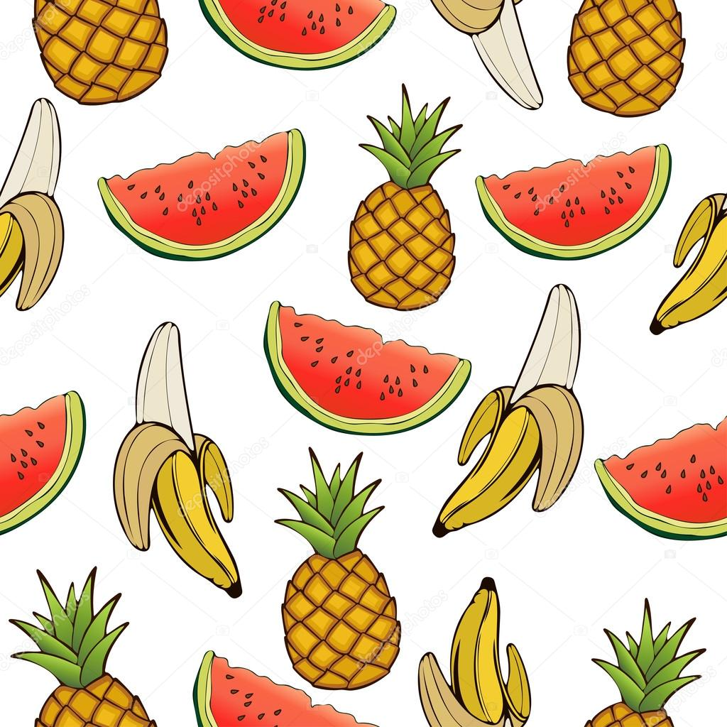Drawn wallpaper fruit Pattern illustration fruit of wallpaper