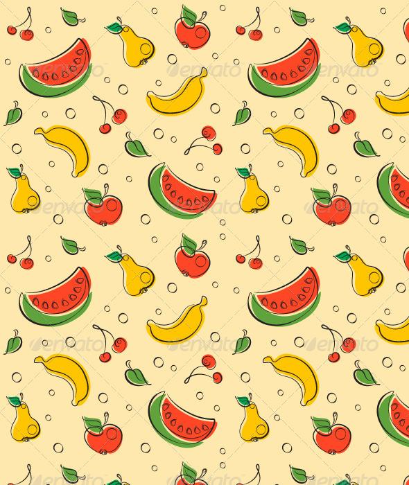 Drawn wallpaper fruit Pattern Outline Pattern Pattern Fruit