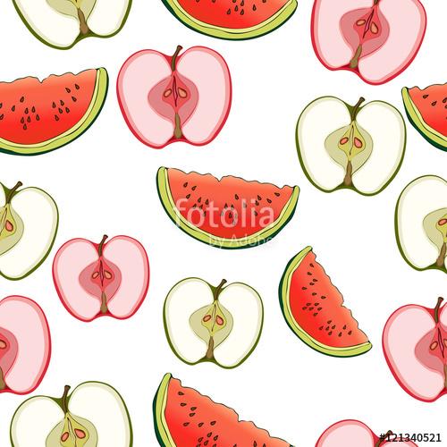 Drawn wallpaper fruit Watermelon on of Drawing pattern
