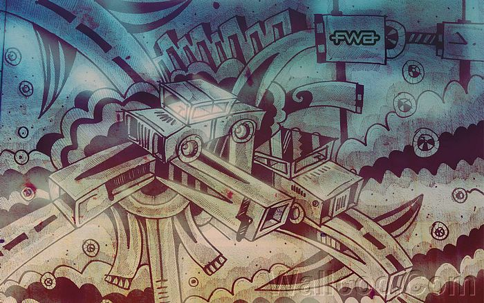Drawn wallpaper graphic Cloudy Creative 20 FWA Designs