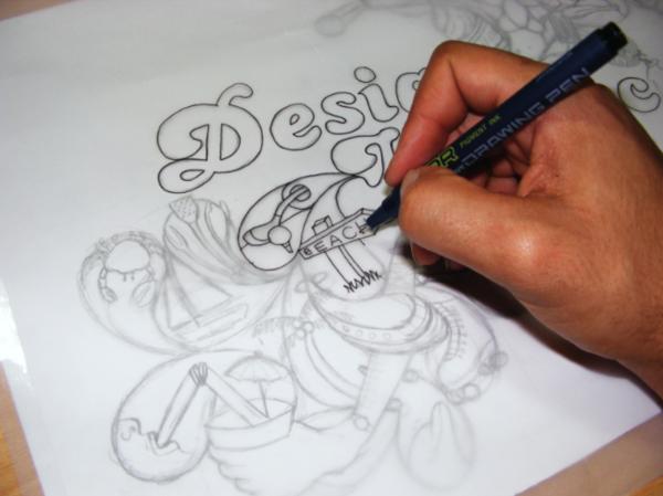 Drawn wallpaper illustrated Using Drawn paper Hand Wallpaper