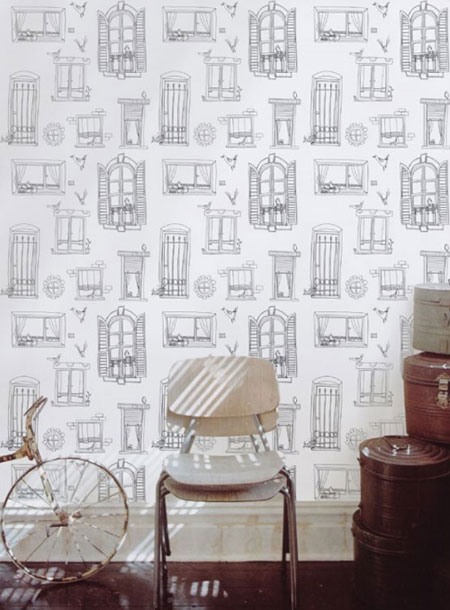 Drawn wallpaper illustrated Pattern @ Nommo Wallpaper Pattern