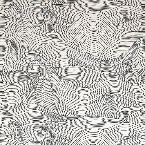 Drawn wallpaper line drawing Interesting thicker lines version pattern