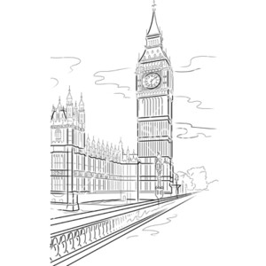 Big Ben clipart drawn Drawing big ben Polyvore tower