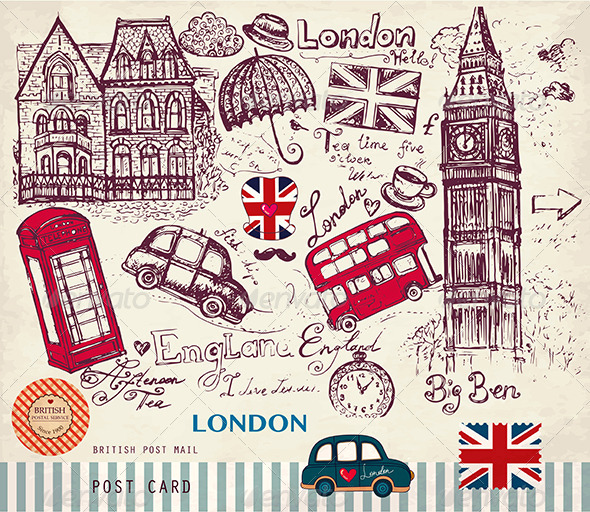Drawn wallpaper london Vintage and travel Google Here