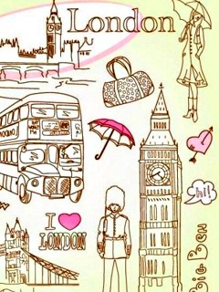 Drawn wallpaper london Icons doodles on Heart It