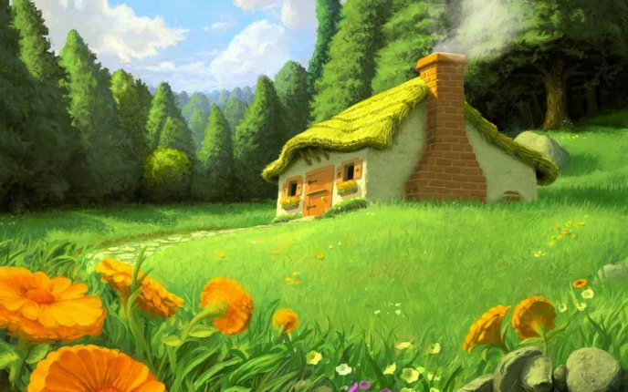Drawn wallpaper nature Nature Beautiful the the drawing