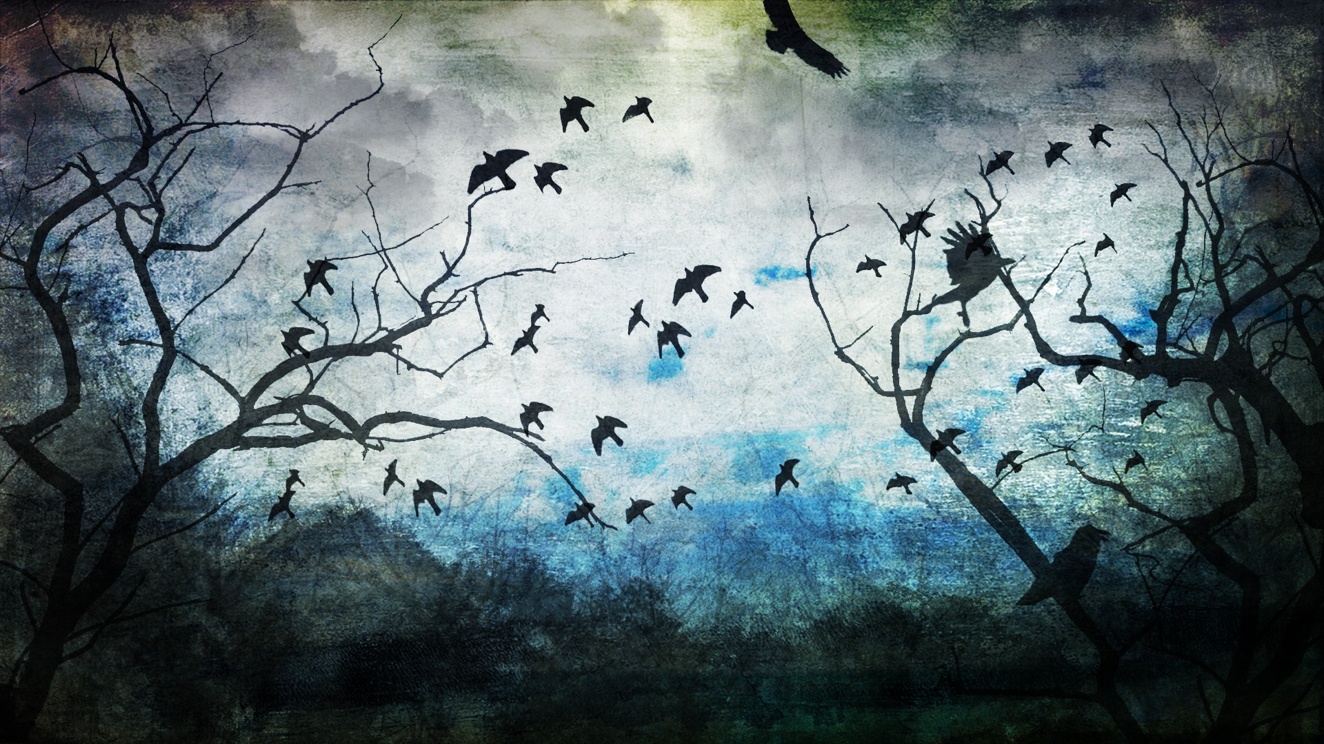 Drawn wallpaper nature Drawing Forest Art Wallpaper Wallpapers