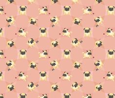 Drawn wallpaper pug Custom to Pattern Photo Pugs!