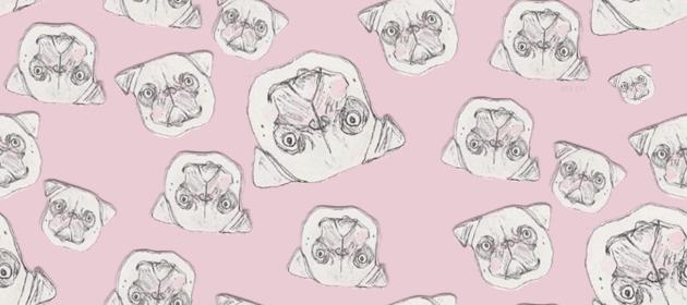 Drawn wallpaper pug <b>tumblr</b> Drawn Background 25 about