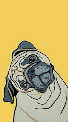 Drawn wallpaper pug Think and few Imagen pug