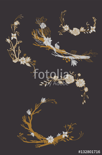Drawn wallpaper retro design Wallpaper pattern design vector with