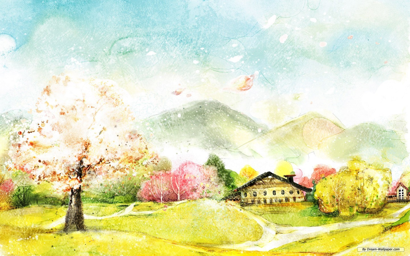 Drawn scenery nice scenery Wallpaper a For art wallpaper
