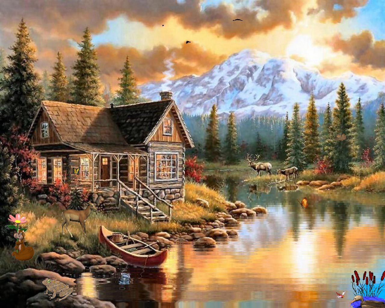 Drawn wallpaper scenery And Syllabus Wallpapers nature cabin