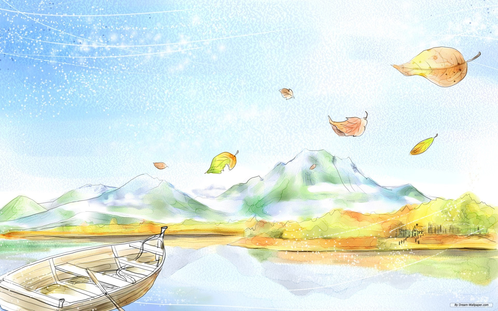 Drawn scenery nice scenery Scenery wallpaper Scenery Drawing pictures