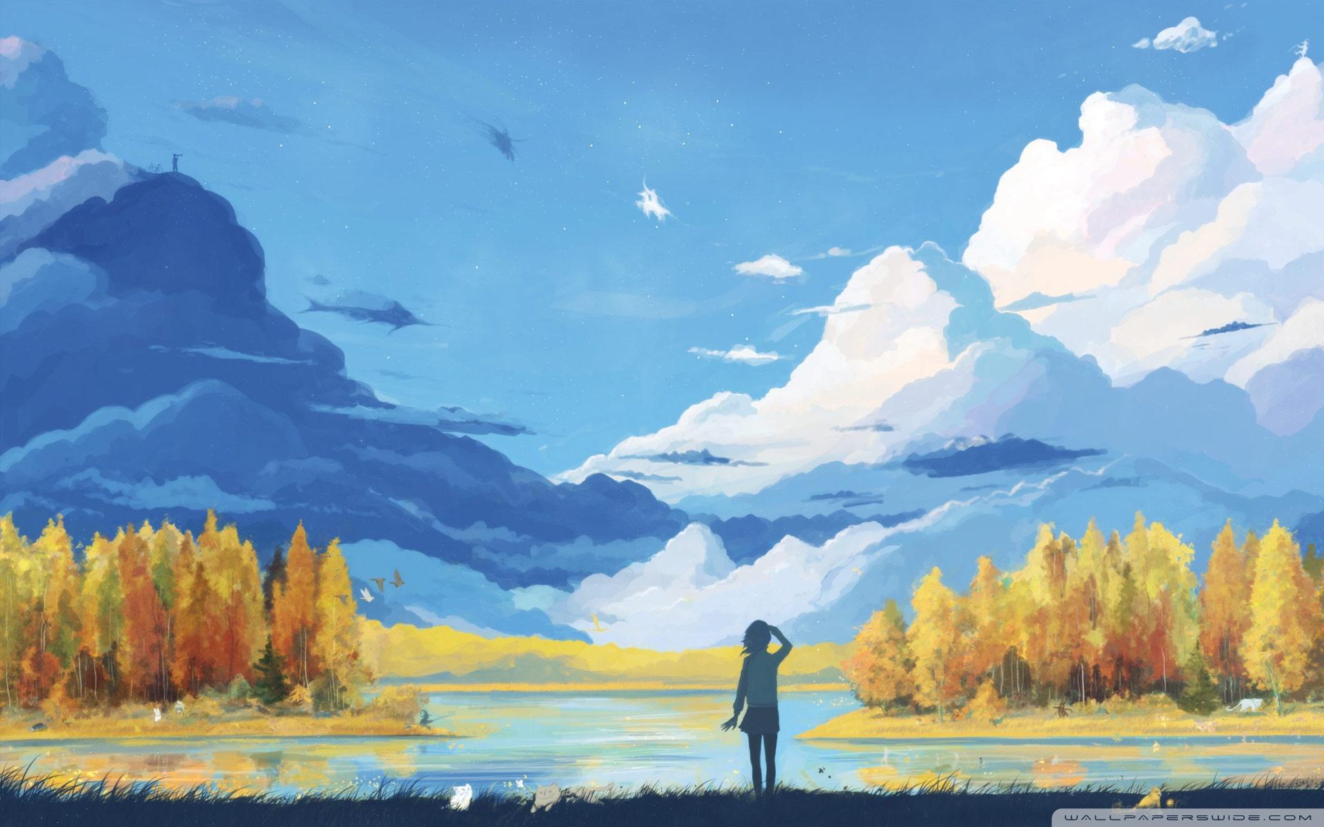 Drawn wallpaper scenery HD Painting Fall : wallpaper