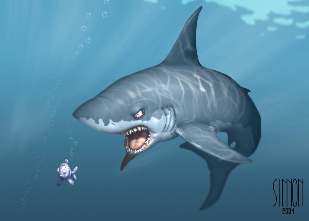 Shark clipart for kid #6