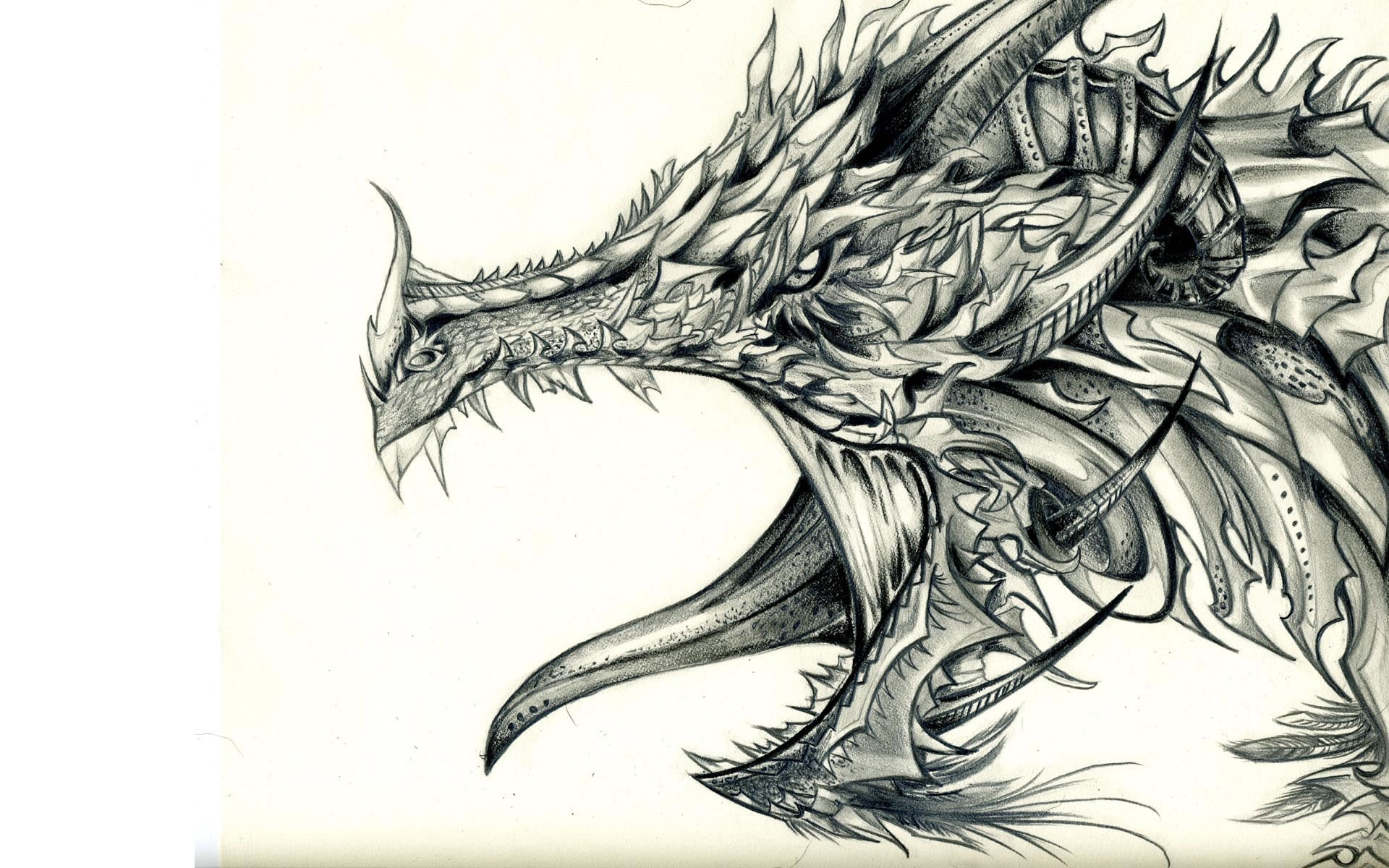 Drawn demon dragon #2