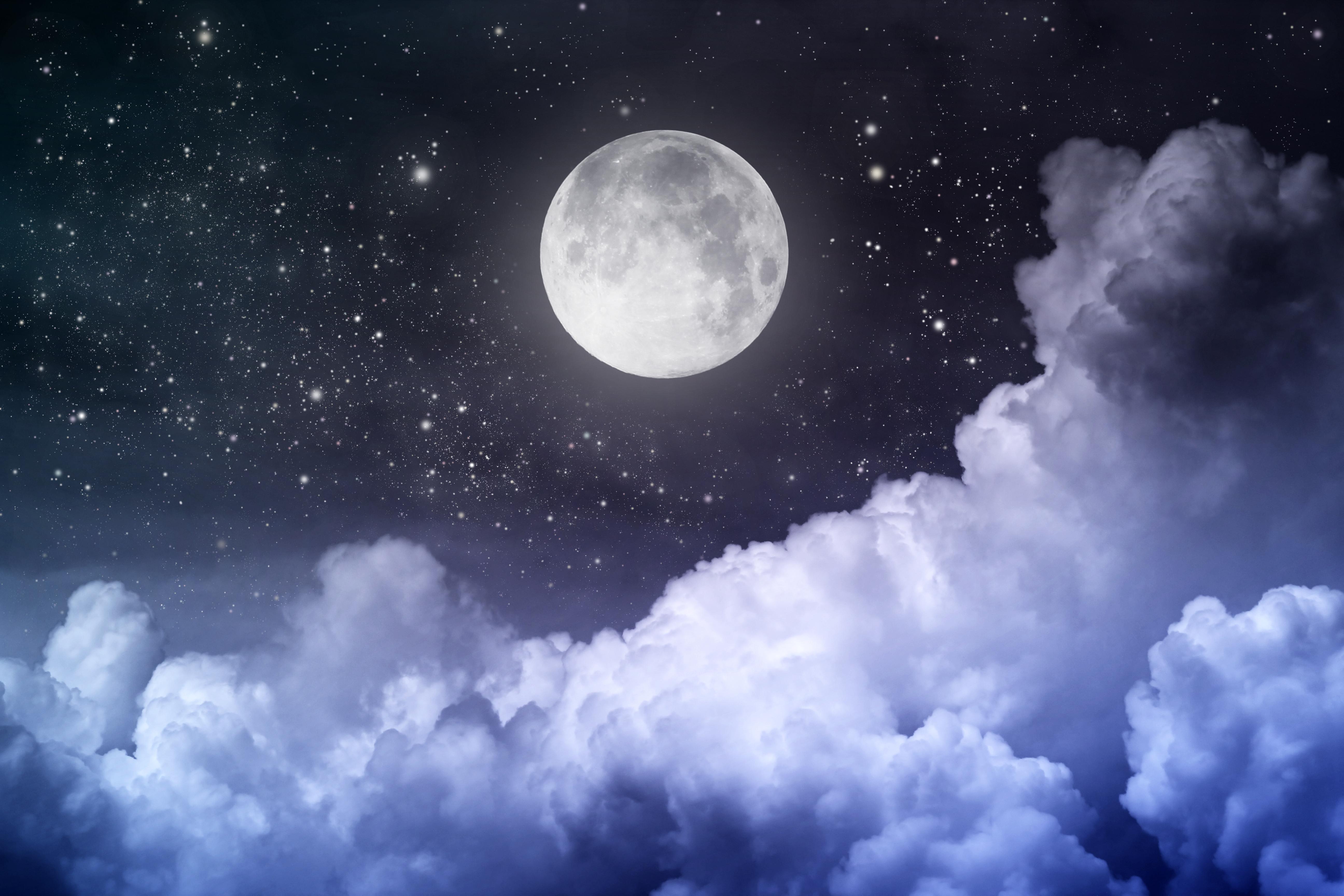 Moonlight clipart full moon Full Sky Moon Clouds Full