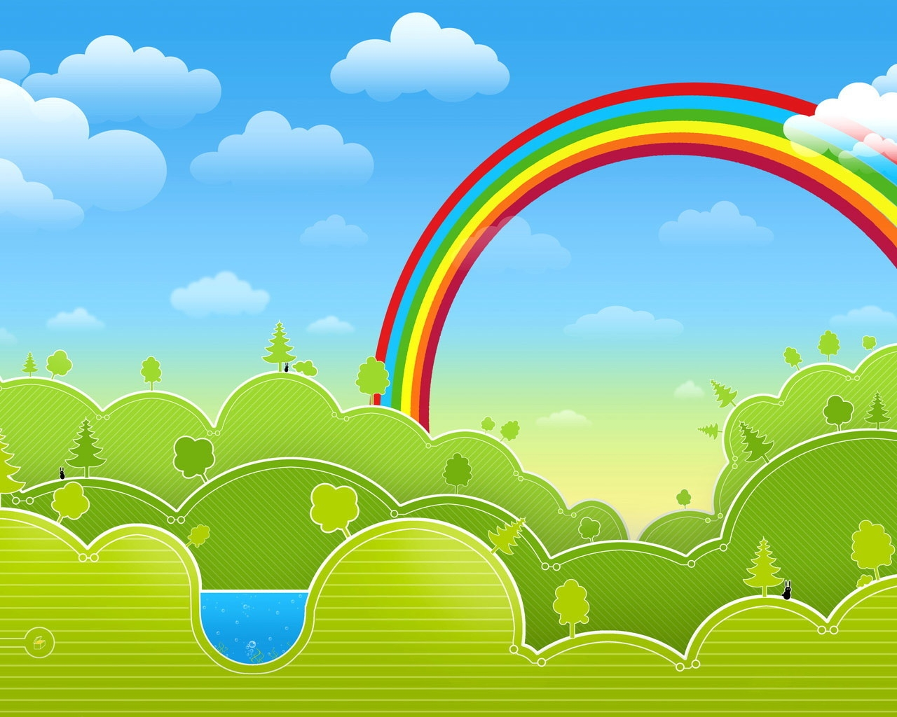 Drawn rainbow the sky Multicolored 1280x1024 Drawing Download Rainbow