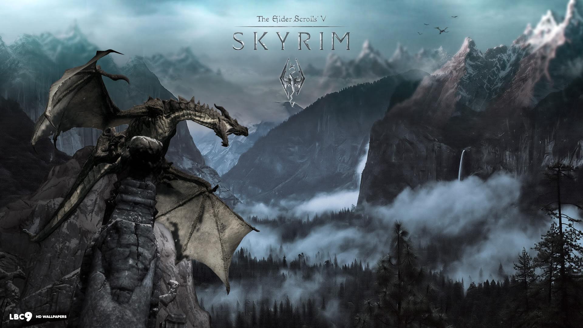 Drawn wallpaper skyrim Skyrim Dragon Dragon wallpaper Wallpaper