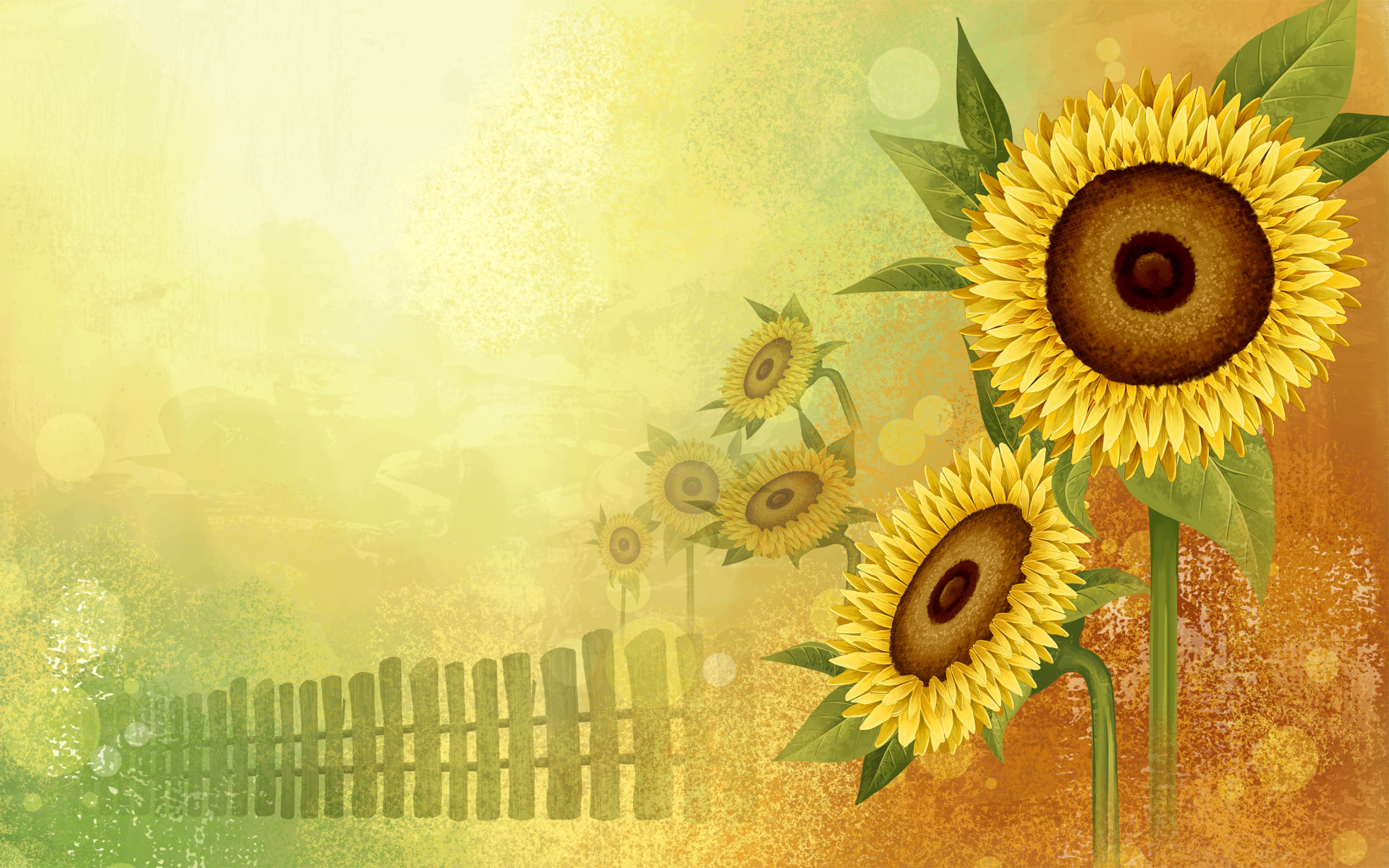 Sunflower clipart wallpaper 3D wallpapers desktop Sunflower drawn