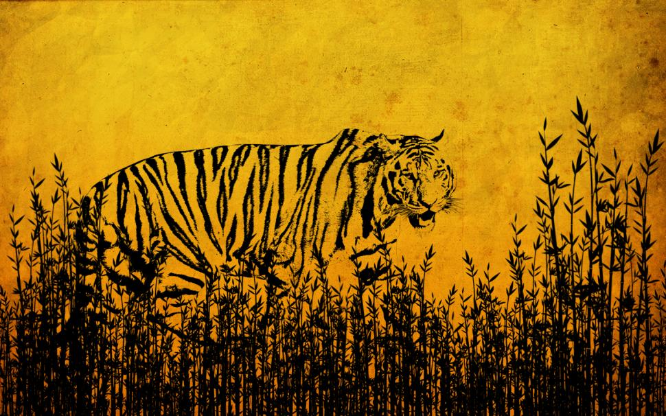 Drawn wallpaper tiger HD animals tiger Drawing Drawing