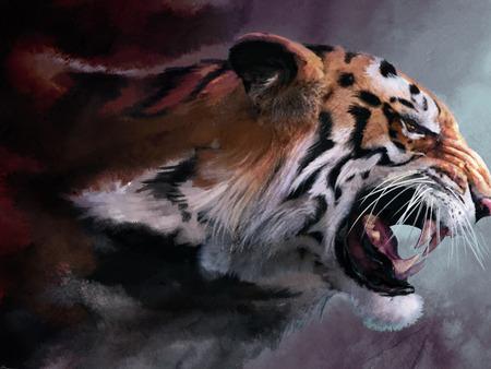 Drawn wallpaper tiger Desktop drawing Abstract Background tiger