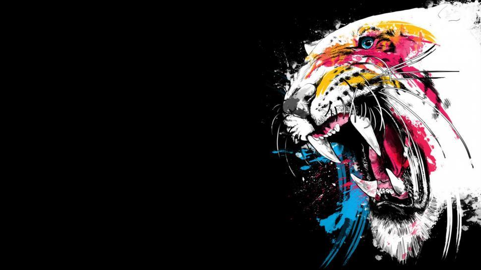 Drawn wallpaper tiger Tiger Tiger Drawing HD Masteri