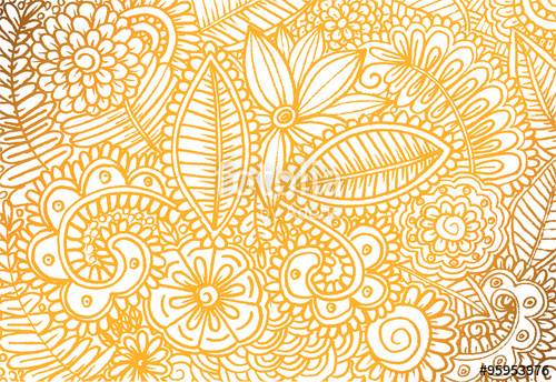 Drawn wallpaper vector Flower wallpaper drawing hand and