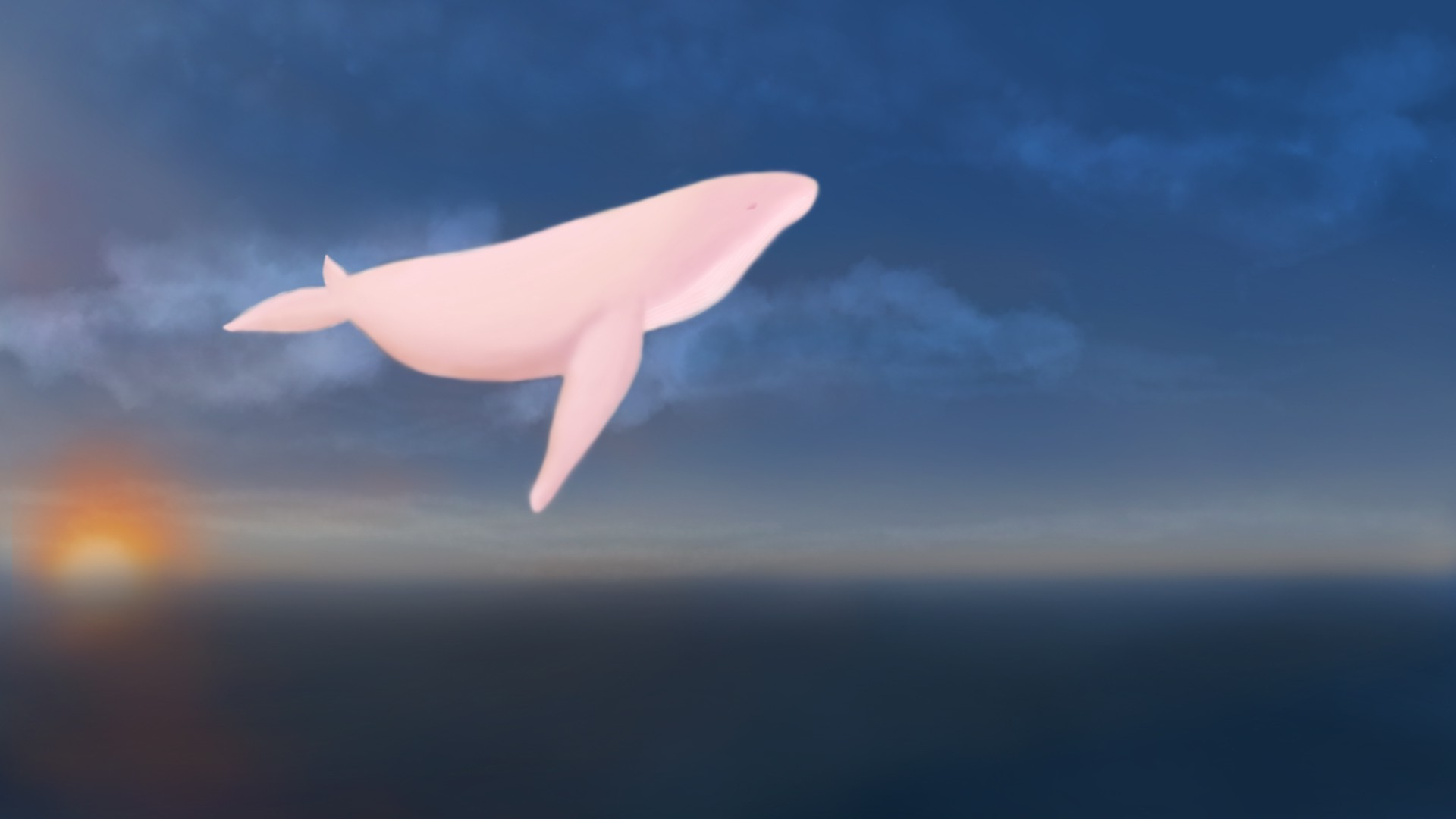 Drawn wallpaper whale Mobile Landscape whale Wallpapers HD