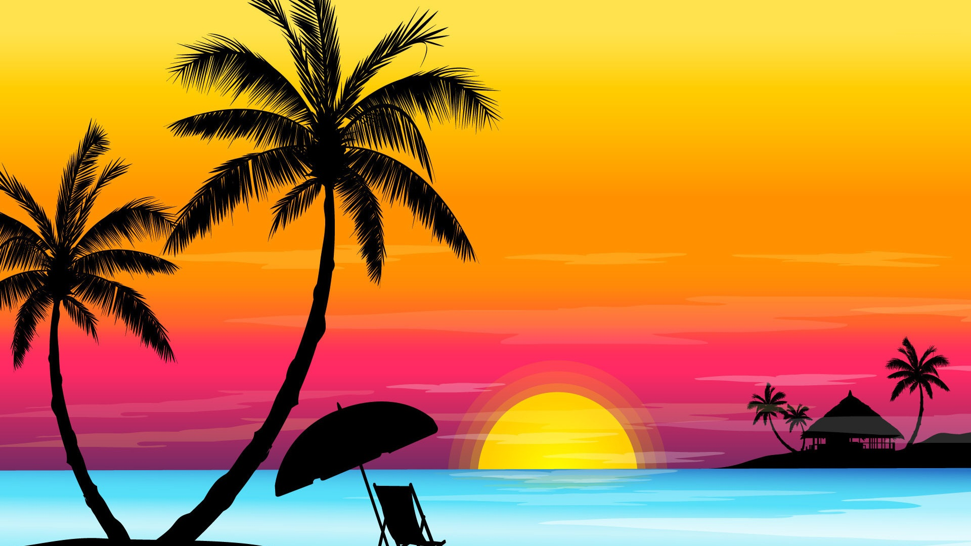 Drawn wallpaper widescreen Drawing HD Beach PixelsTalk Wallpaper