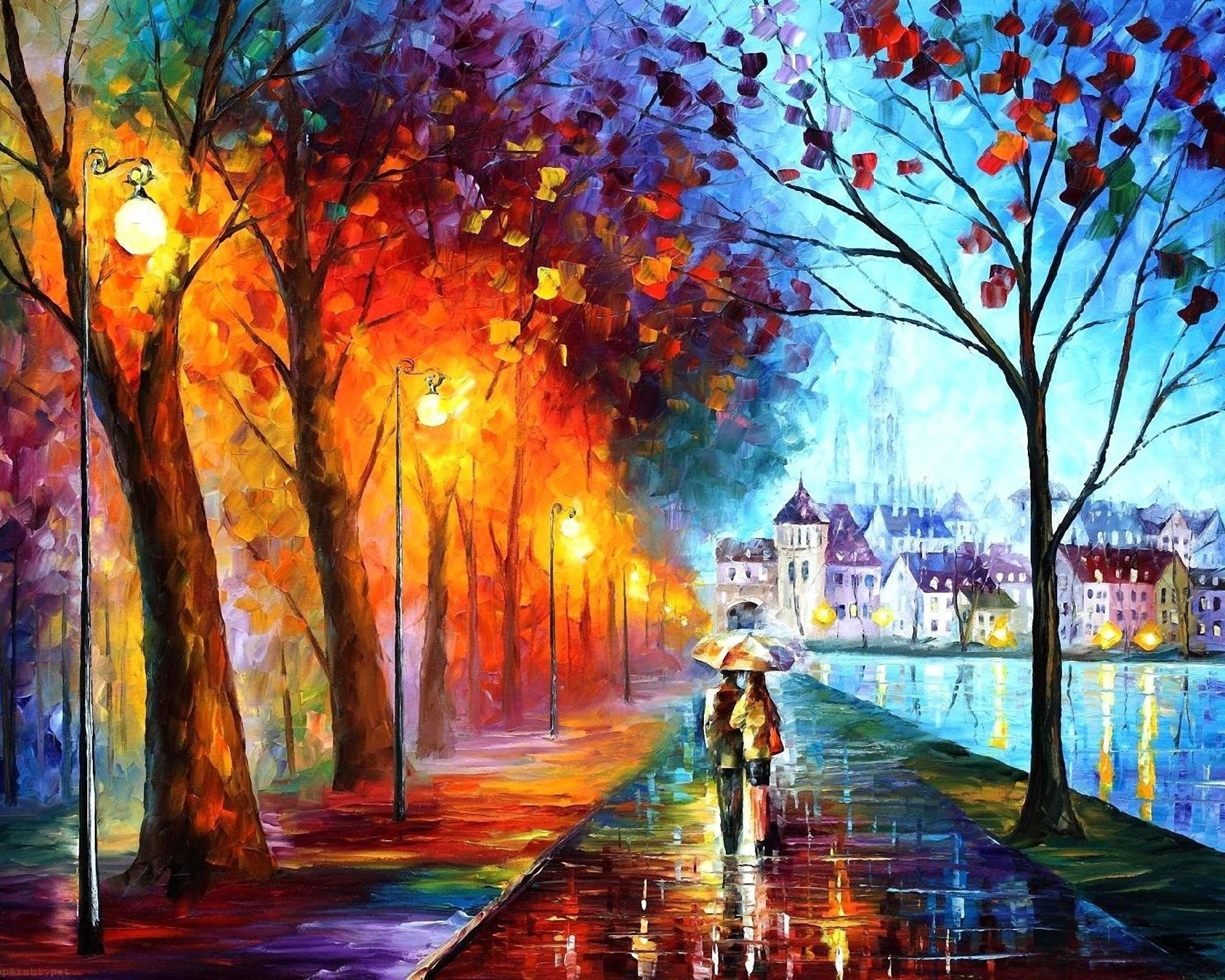 Drawn wallpaper widescreen Background walking Wallpaper 2560x2048 HD