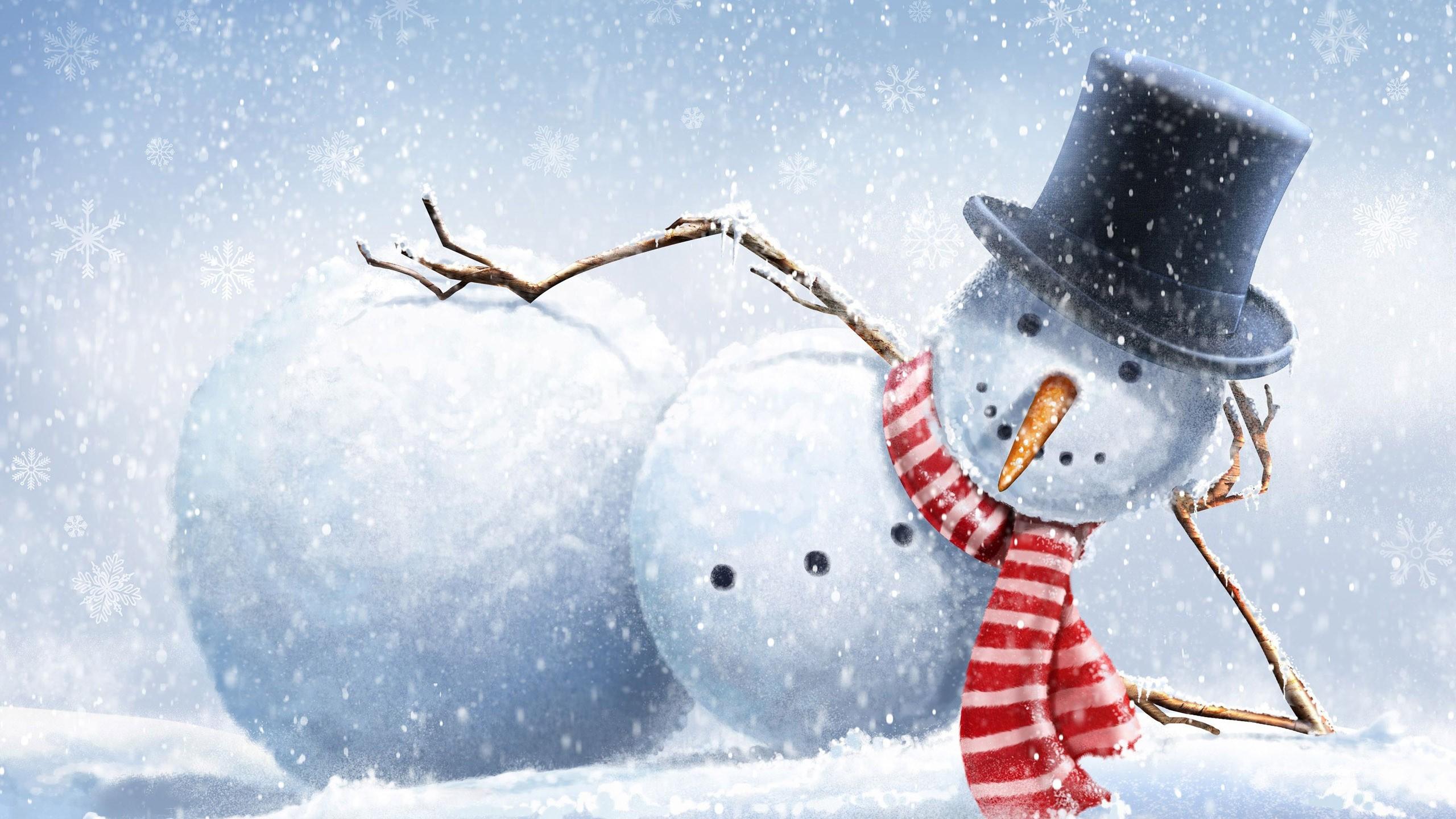 Drawn wallpaper winter Branch snowman winter snowman carrots