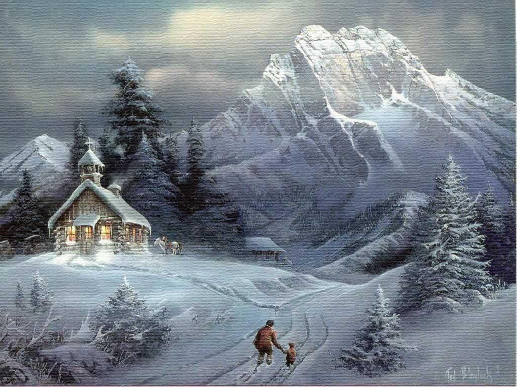 Drawn wallpaper winter For scenery Christ Consider christmas
