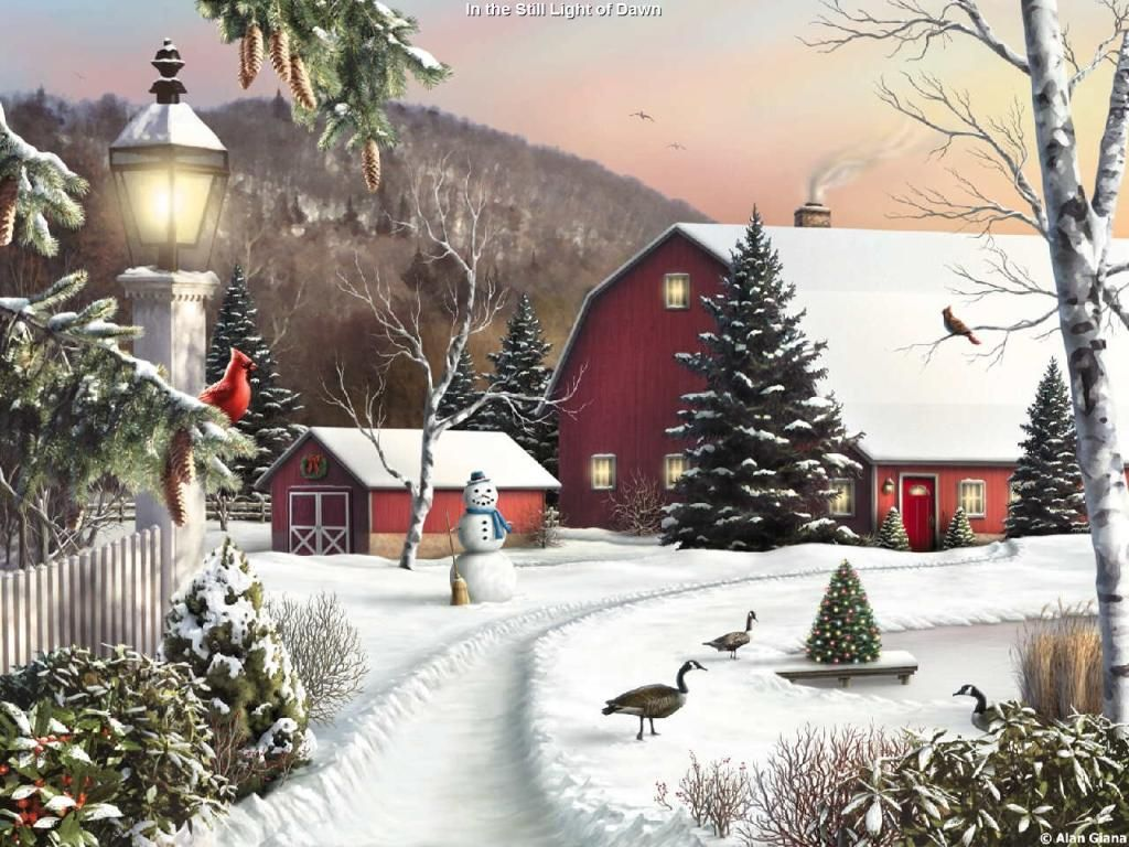 Drawn wallpaper winter Nr Scenic Christmas Winter WallpaperSafari