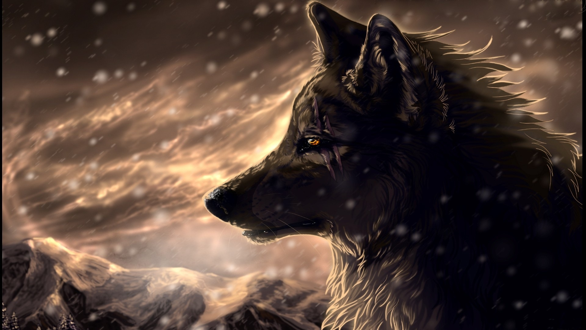 Drawn wallpaper wolf Drawn free wallpapers wallpaper download