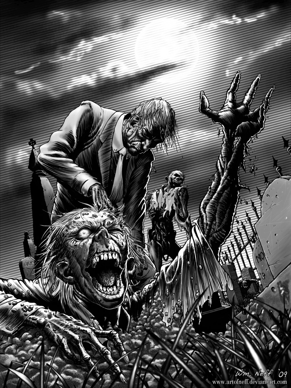 Drawn wallpaper zombie WallpaperSafari Zombie Cool Abduzeedo Awesome