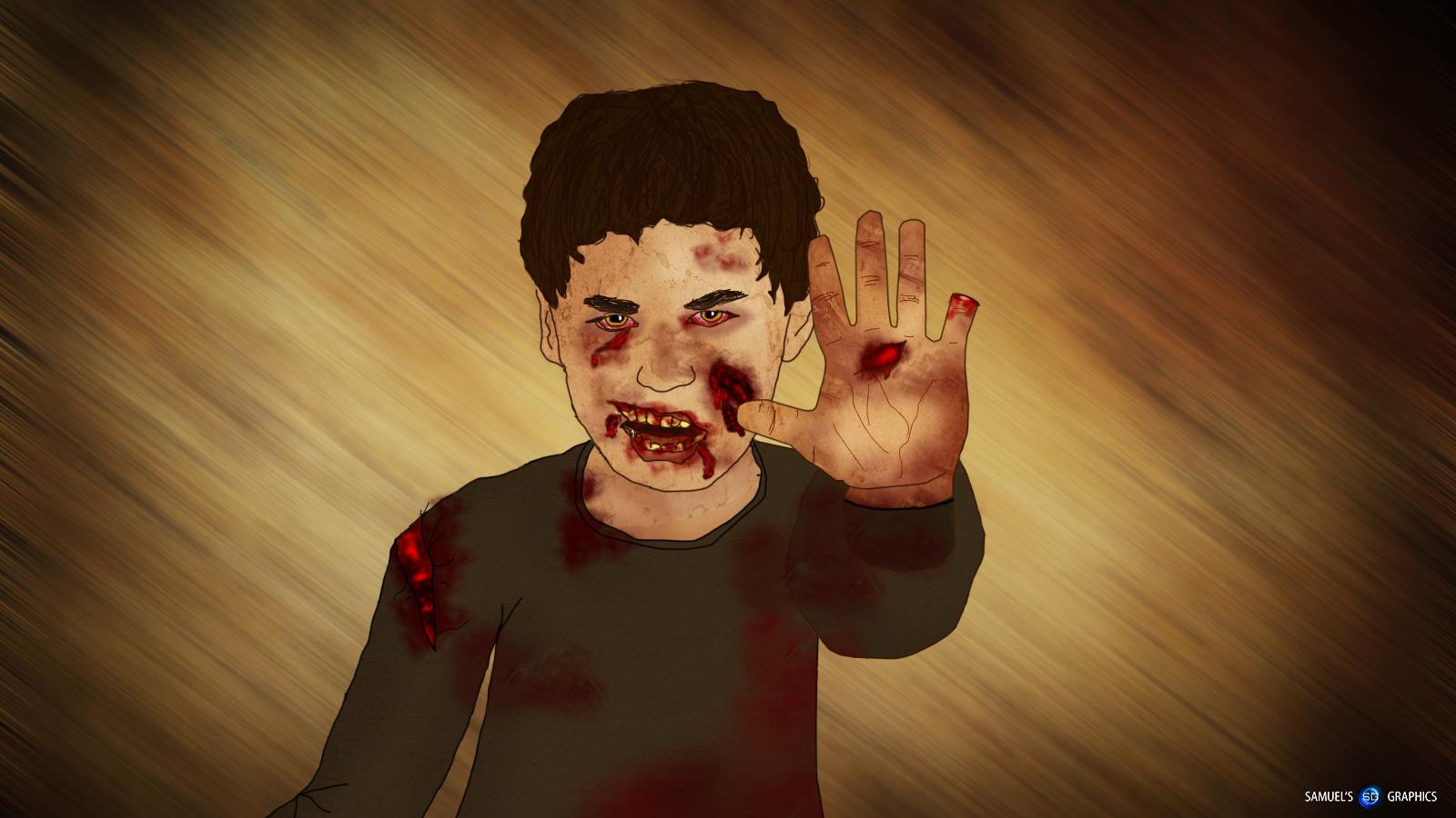Drawn wallpaper zombie Zombie boy Samuels drawing by