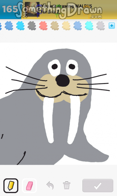 Drawn walrus #15