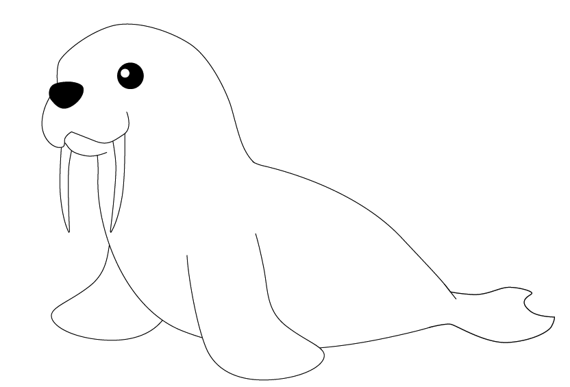 Drawn walrus #2
