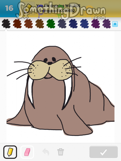 Drawn walrus #4