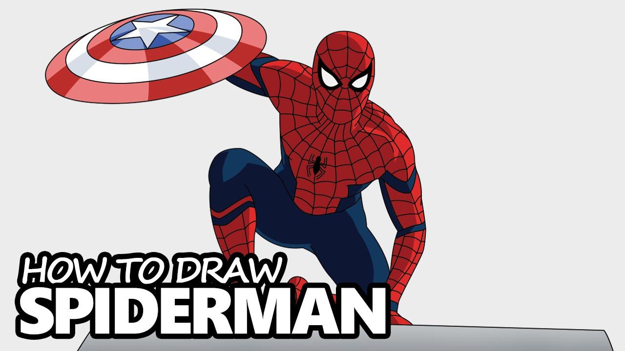 Drawn cartoon spiderman #6