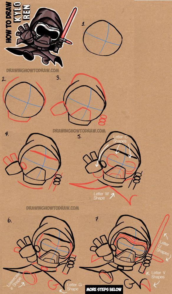 Drawn star wars head From Best 25+ Cute Draw