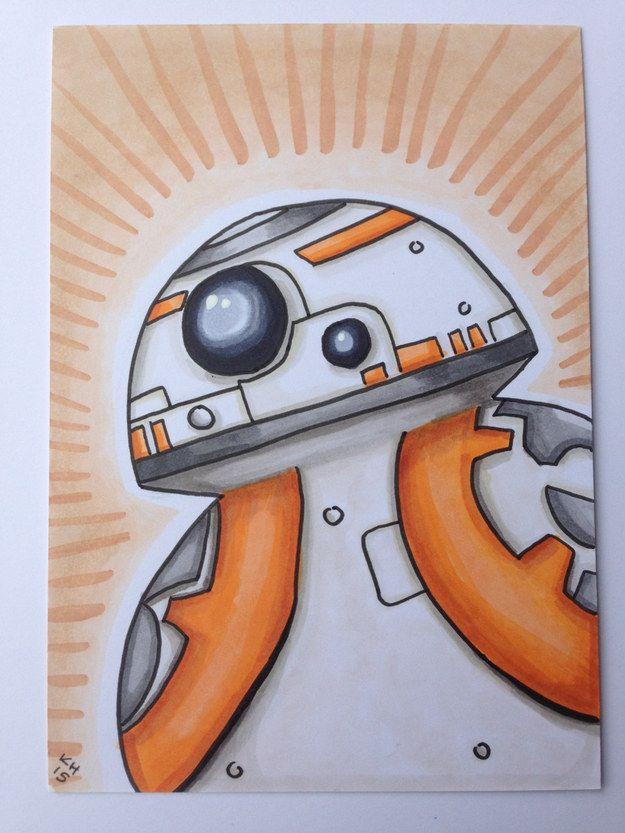 Drawn wars doodle Etsy Awakens Inspired Pinterest on