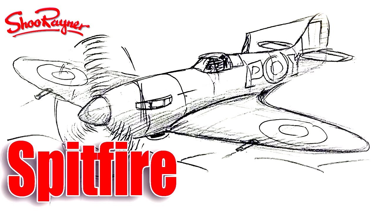 Drawn aircraft ww2 airplane Realtime YouTube Spitfire  a