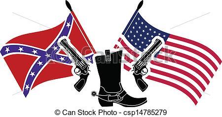 Civil War clipart usa Stencil war  war Vectors