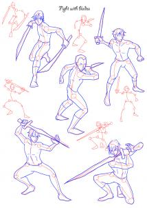 Drawn wars figure drawing Poses step poses Figures Step