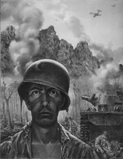 Drawn wars ww2 soldier Drawing PTSD combat trauma