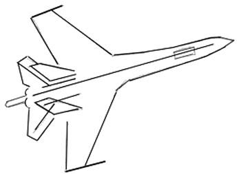 Drawn aircraft easy Airplane Airplane by step an